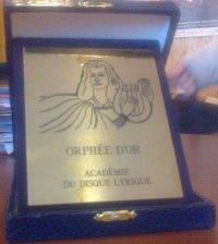 Nagroda Złoty Orfeusz dla Collegium Zieleński za nagranie wszystkich utworów mikołaja Zieleńskiego